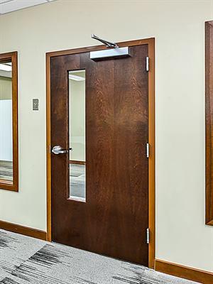 Commercial door repair - Commercial wood door